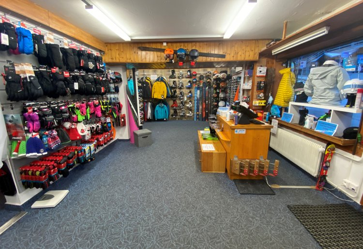 Magasin de sports d'hiver